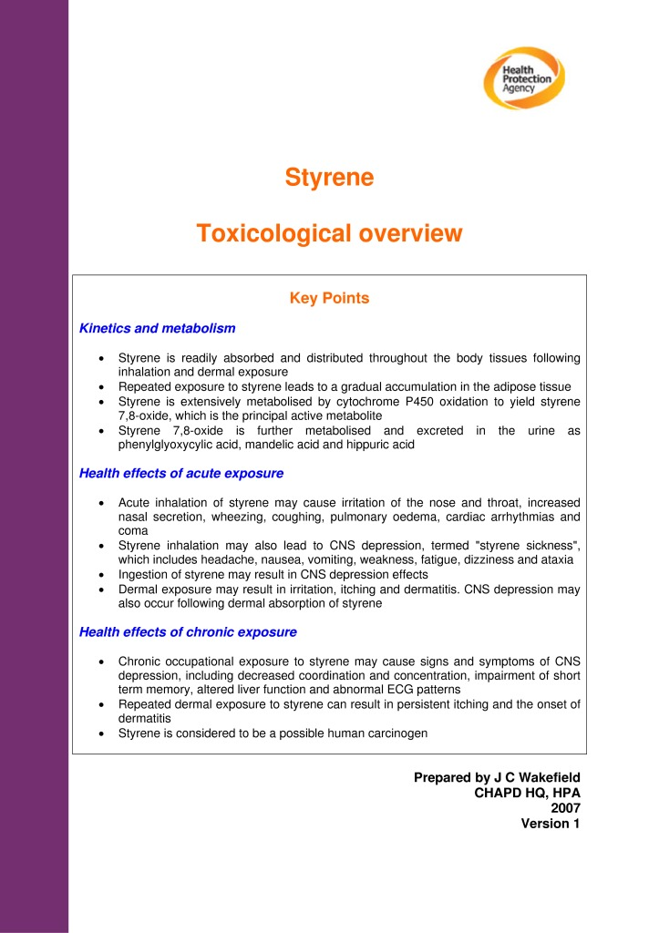 thumbnail of HPA_STYRENE_Toxicological_Overview_v1
