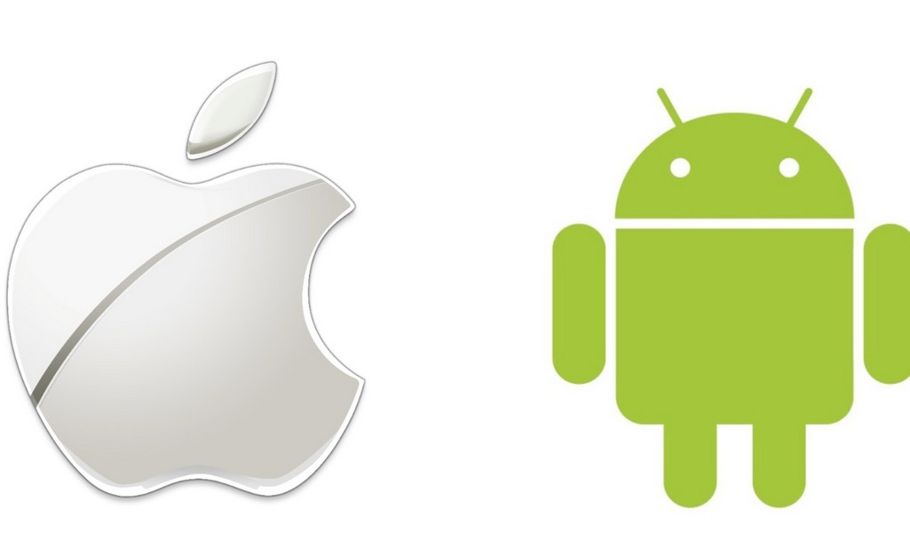 apple-and-android-logo-4k-wallpaper